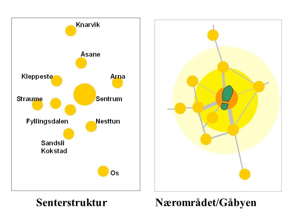 Senterstruktur Nærområdet/Gåbyen