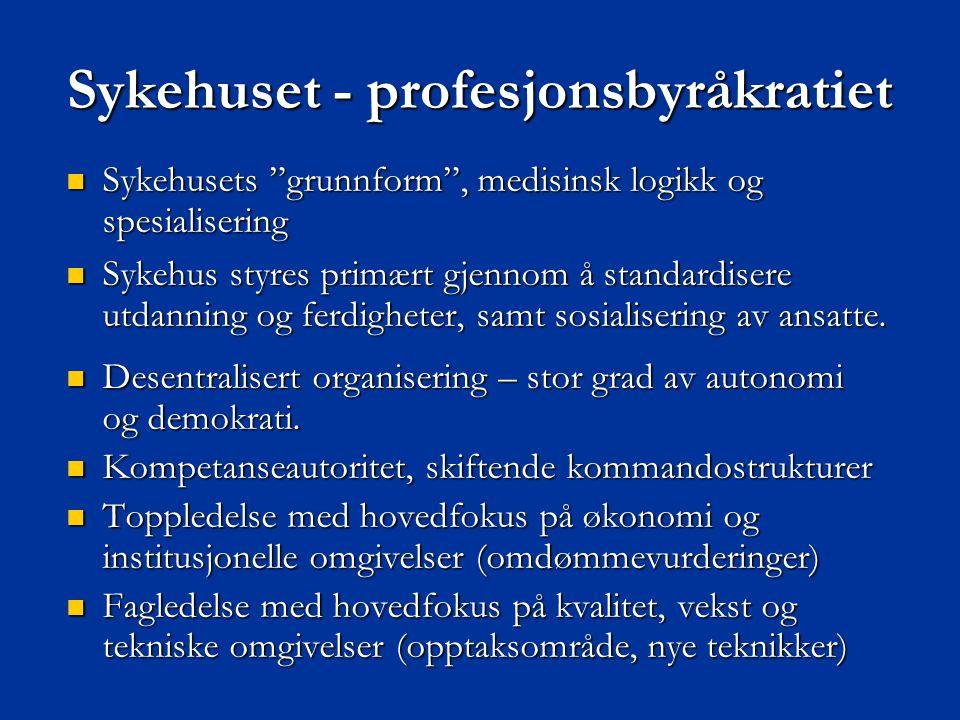 Sykehuset - profesjonsbyråkratiet