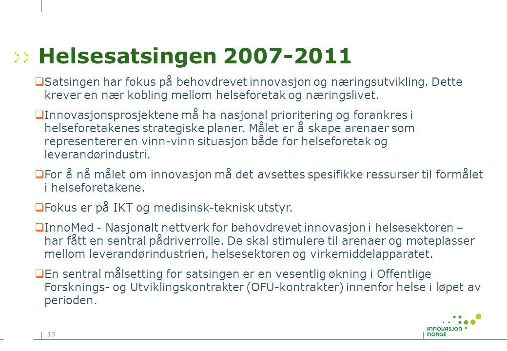 Helsesatsingen 2007-2011