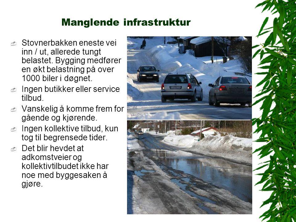 Manglende infrastruktur