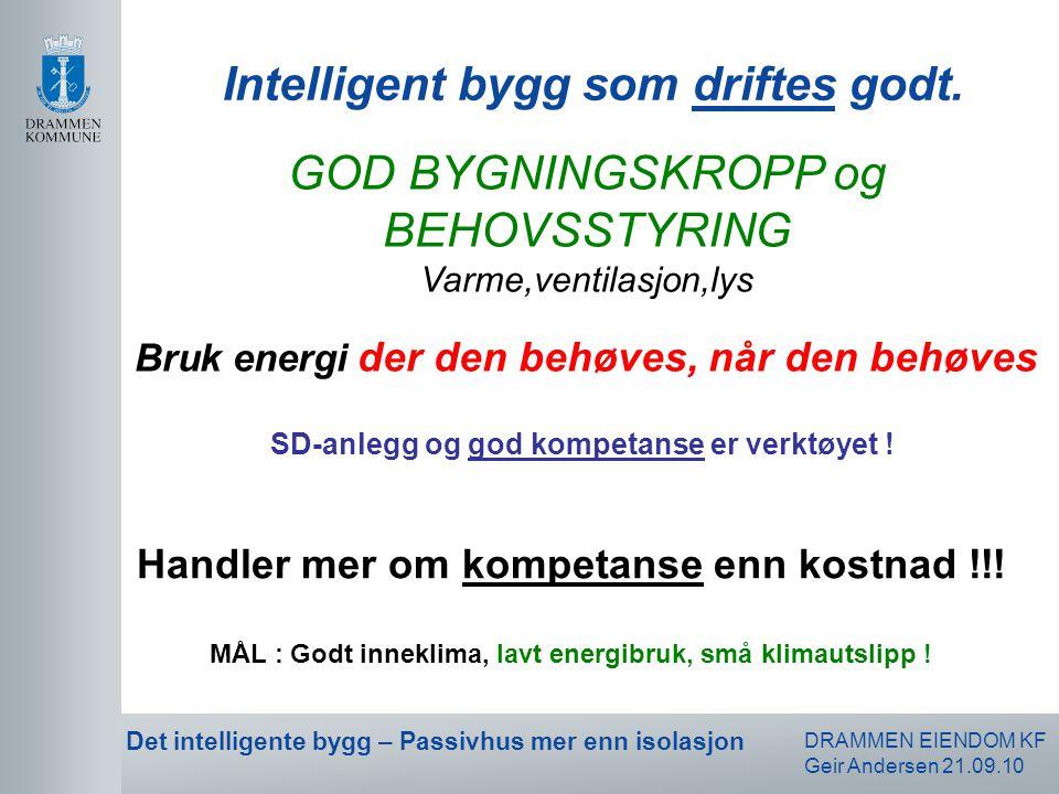 Intelligent bygg som driftes godt.