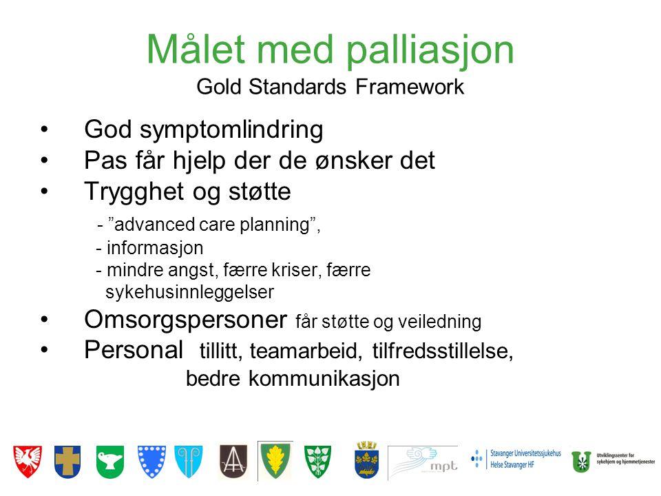 Målet med palliasjon Gold Standards Framework