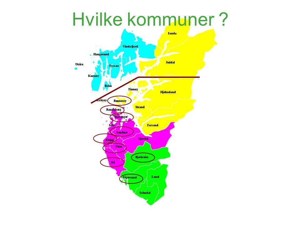 Hvilke kommuner