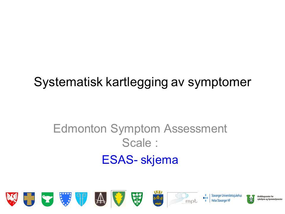 Systematisk kartlegging av symptomer