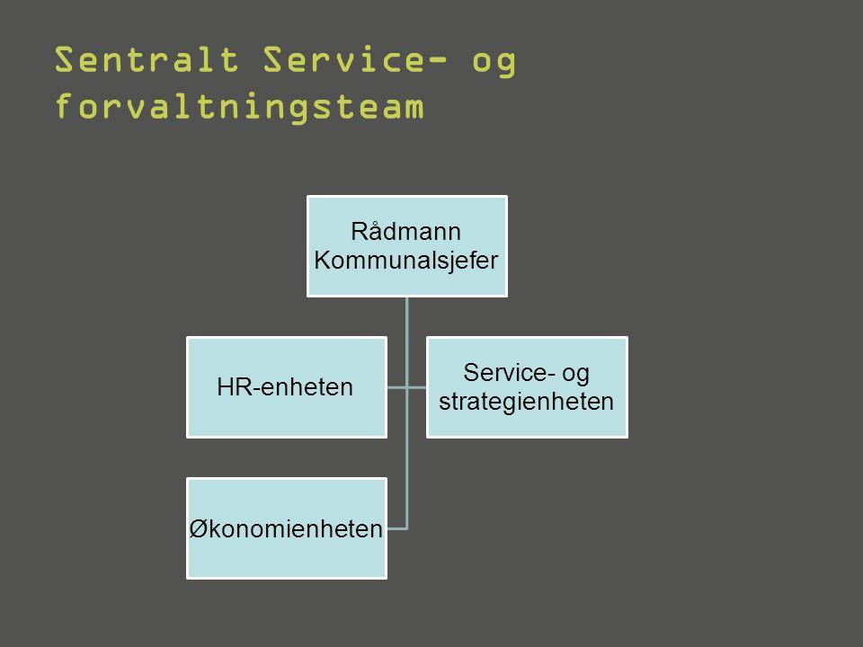 Sentralt Service- og forvaltningsteam