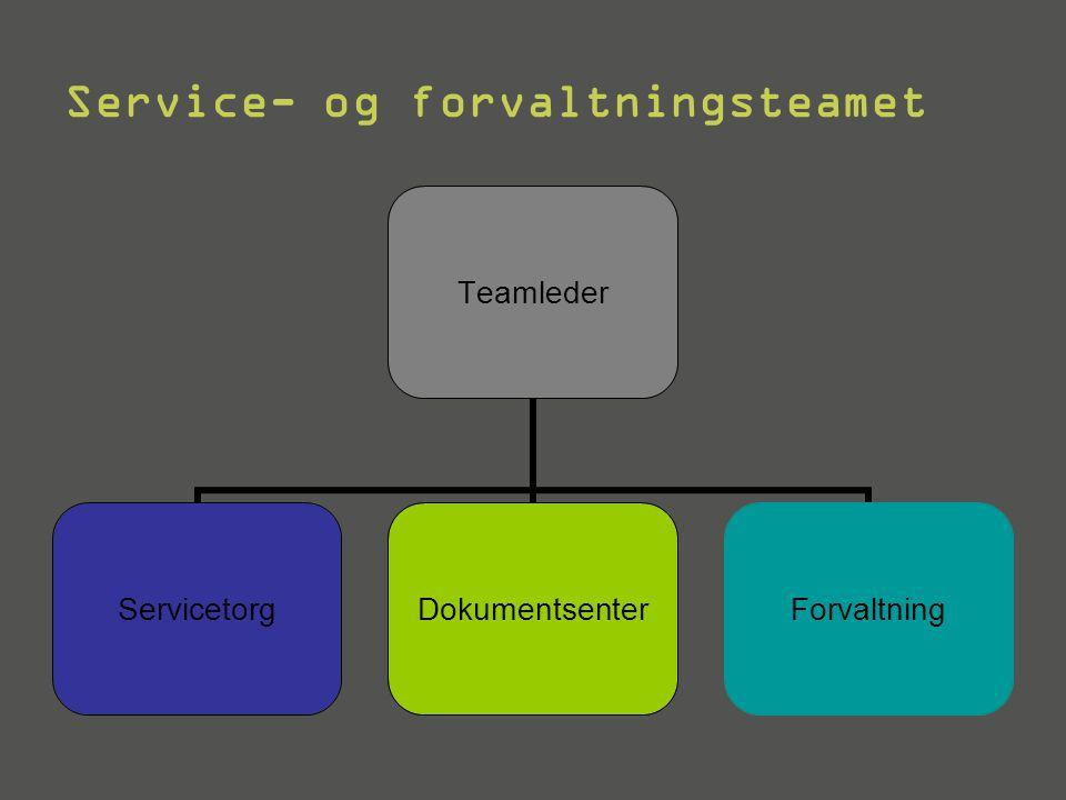 Service- og forvaltningsteamet