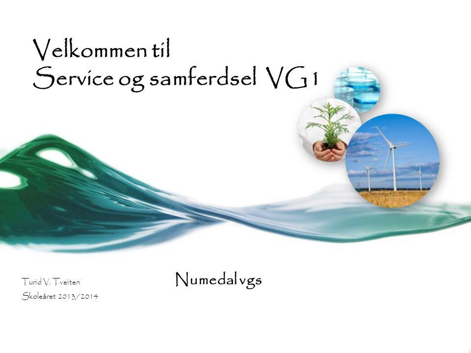 Velkommen til Service og samferdsel VG1