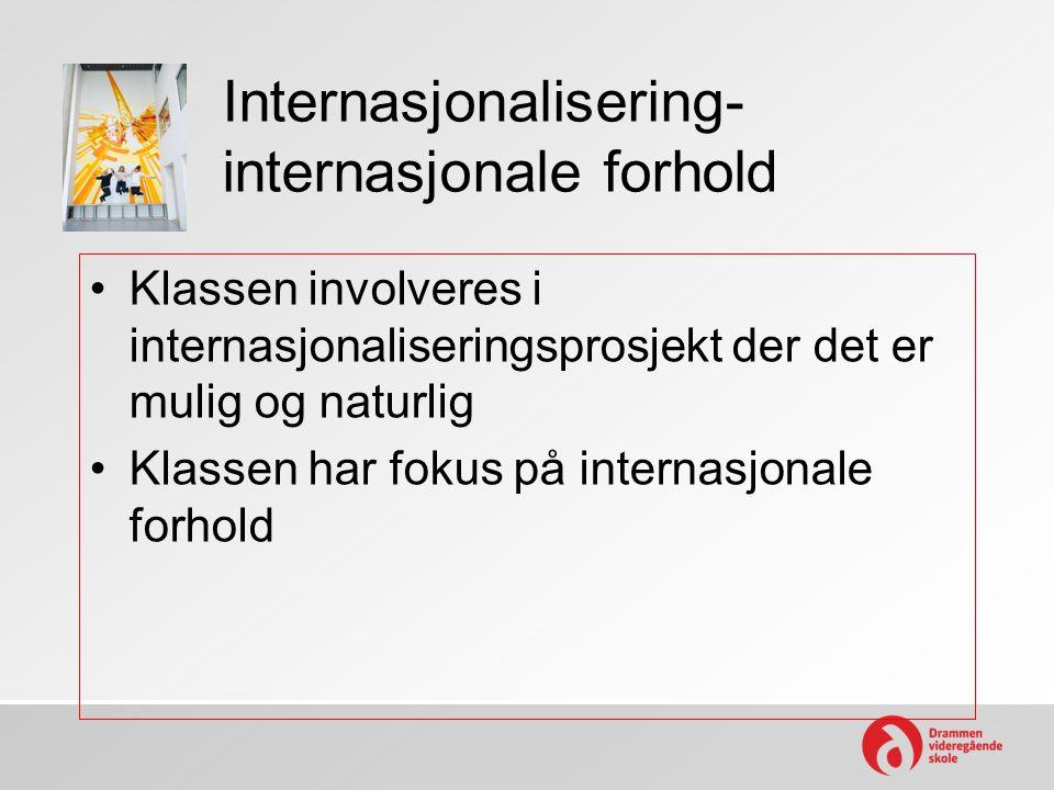Internasjonalisering- internasjonale forhold