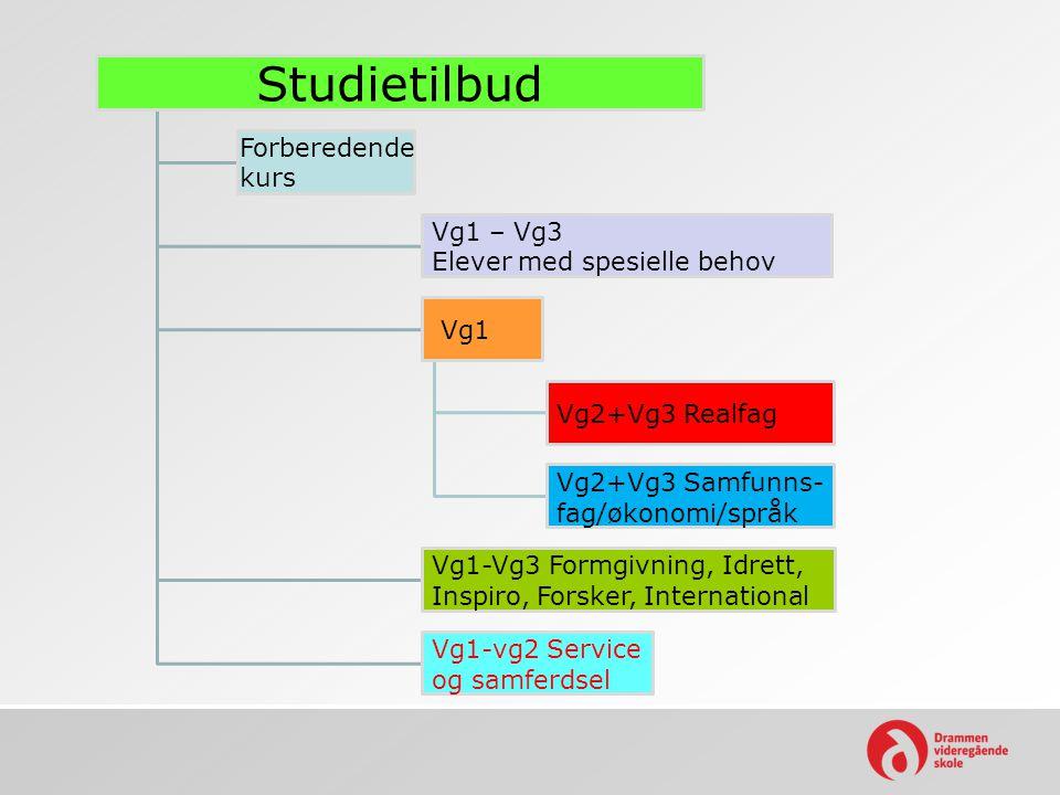Studietilbud Vg2+Vg3 Realfag Vg2+Vg3 Samfunns-