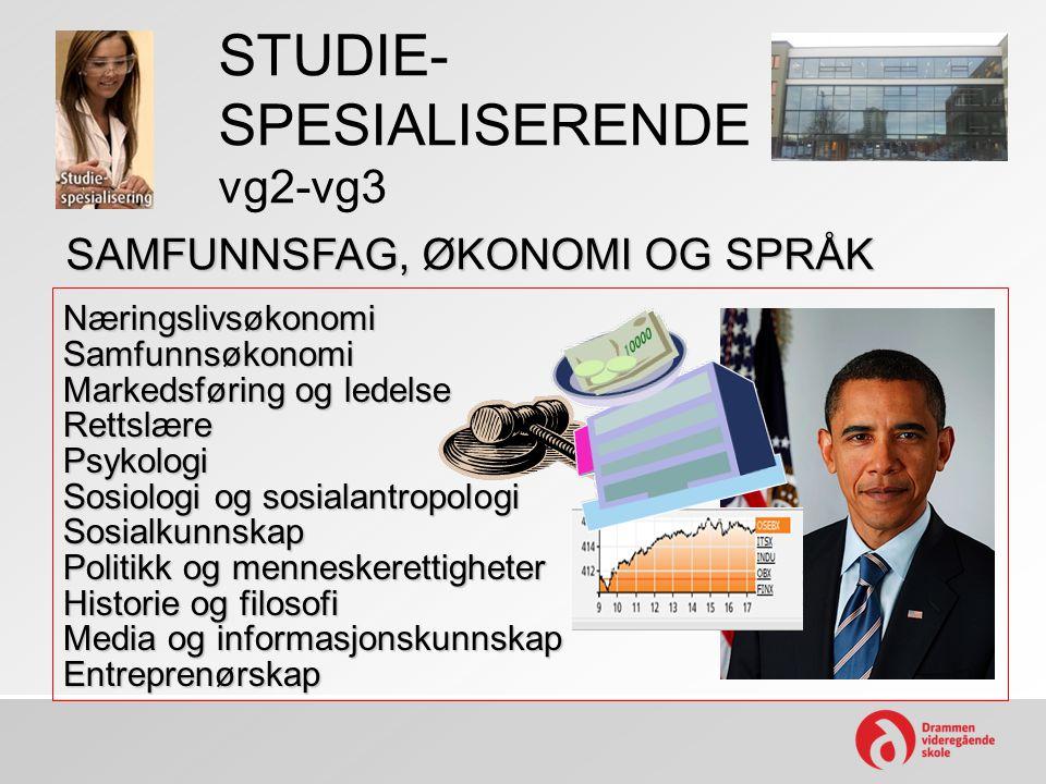 STUDIE- SPESIALISERENDE vg2-vg3