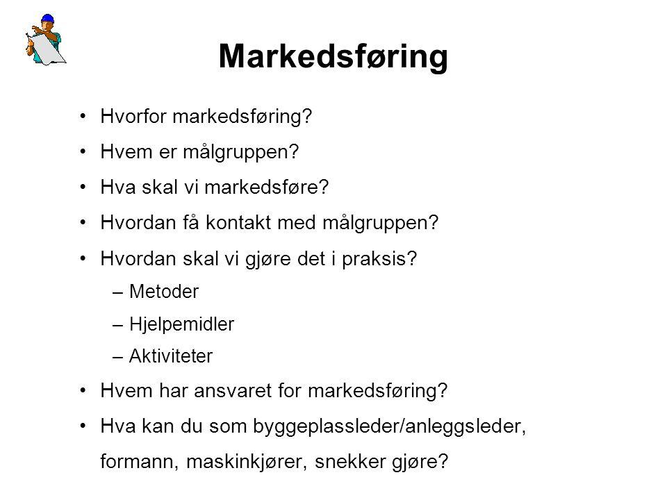 Markedsføring Hvorfor markedsføring Hvem er målgruppen
