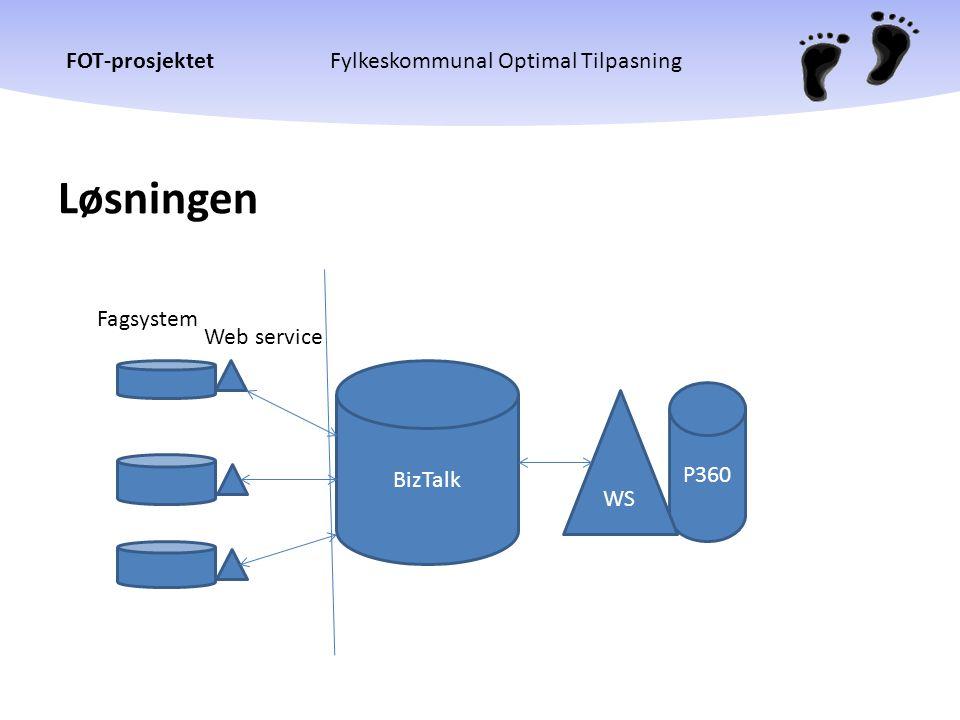 Løsningen Fagsystem Web service BizTalk P360 WS