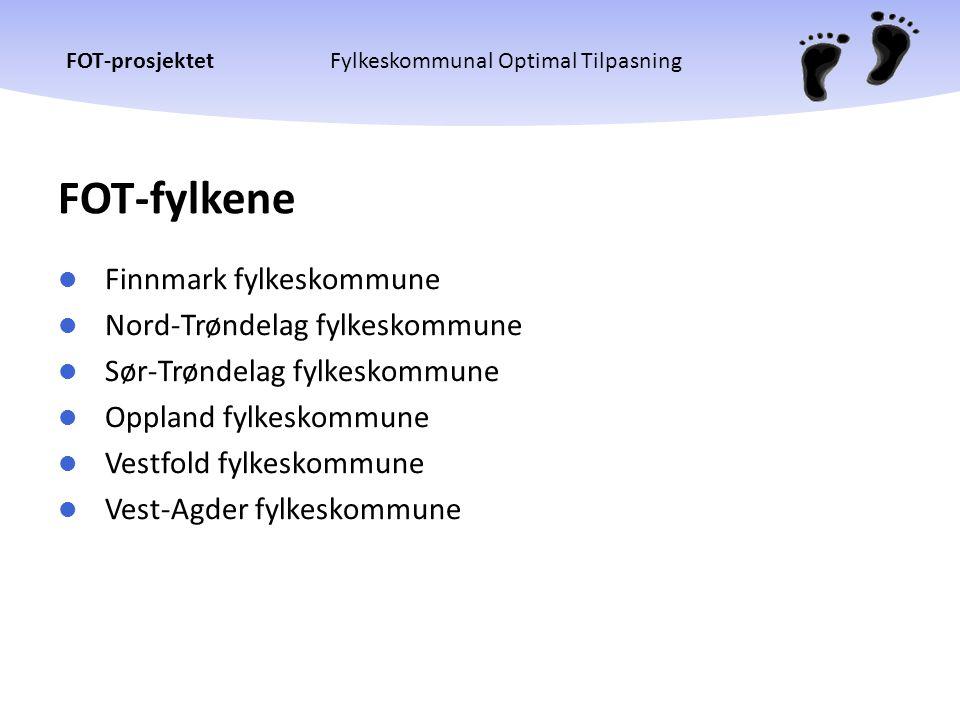 FOT-fylkene Finnmark fylkeskommune Nord-Trøndelag fylkeskommune