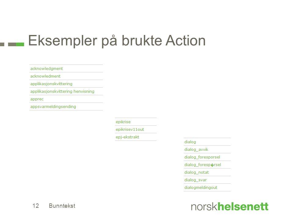 Eksempler på brukte Action