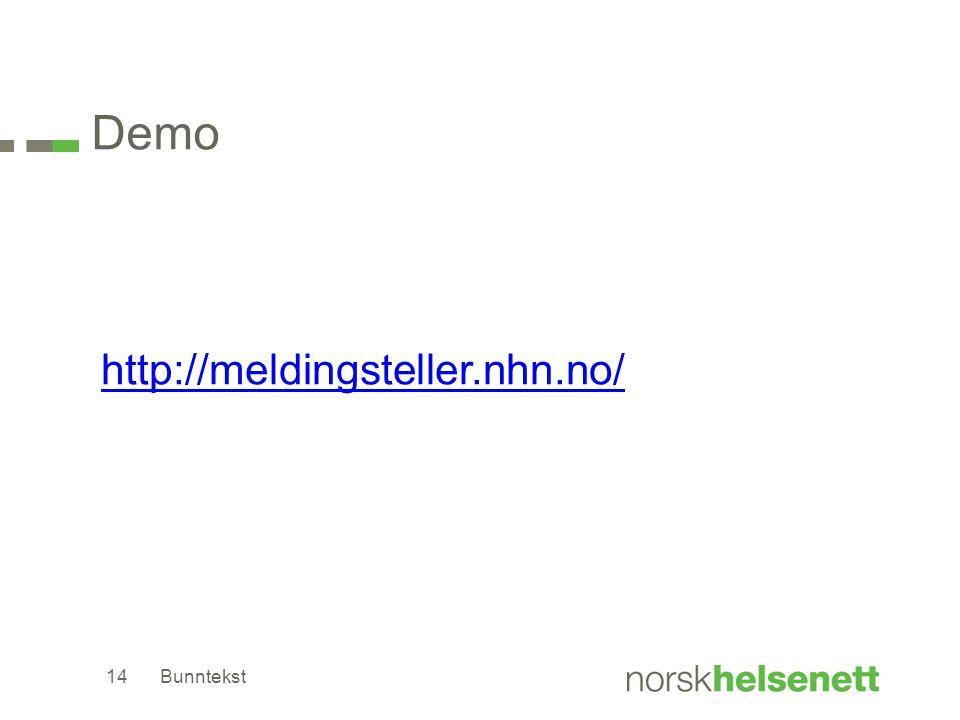 Demo http://meldingsteller.nhn.no/ Bunntekst
