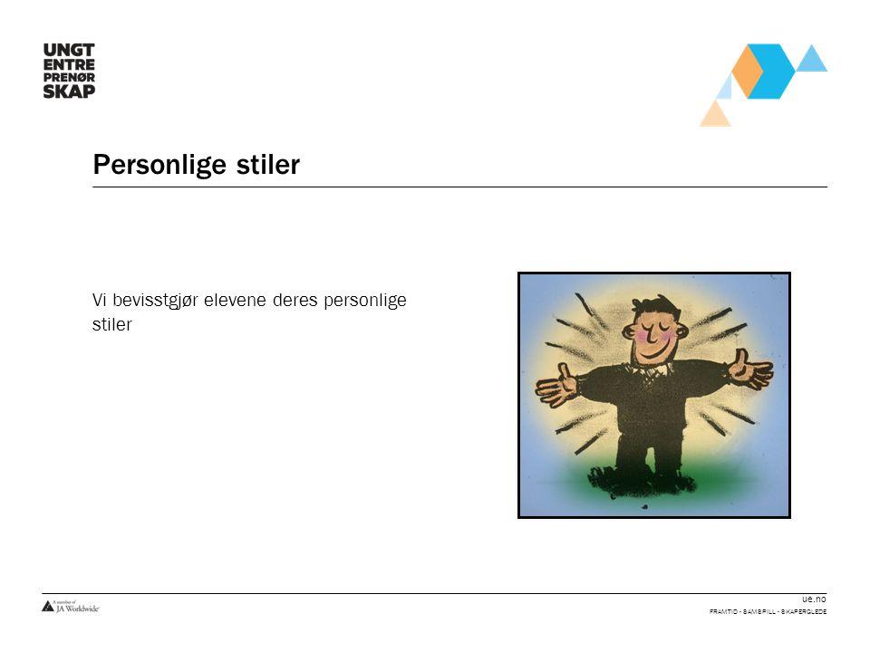 Personlige stiler Vi bevisstgjør elevene deres personlige stiler