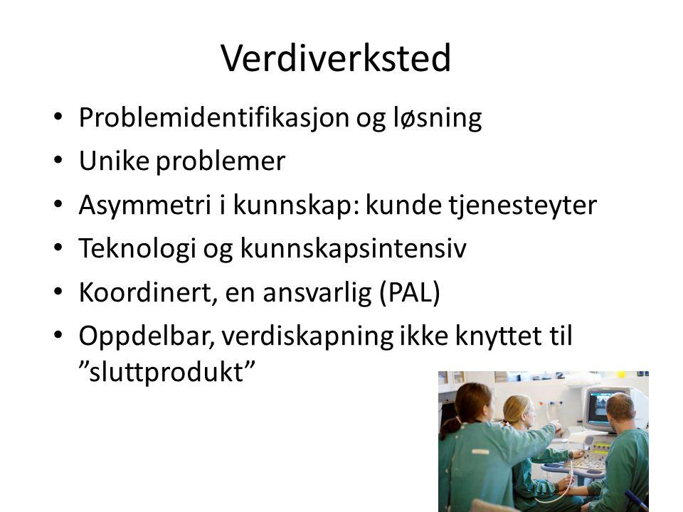 Verdiverksted Problemidentifikasjon og løsning Unike problemer