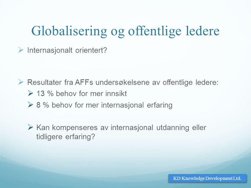 Globalisering og offentlige ledere