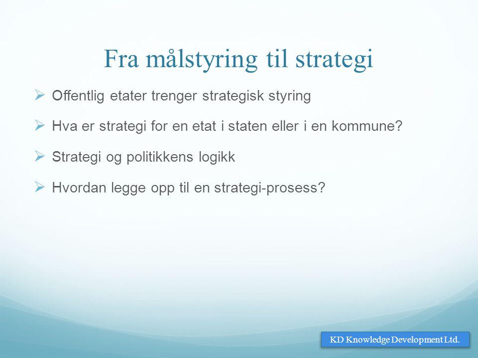 Fra målstyring til strategi