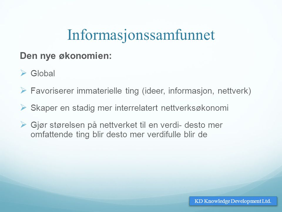 Informasjonssamfunnet