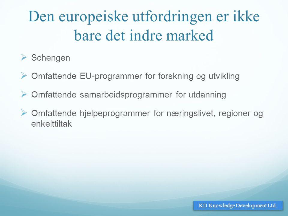 Den europeiske utfordringen er ikke bare det indre marked