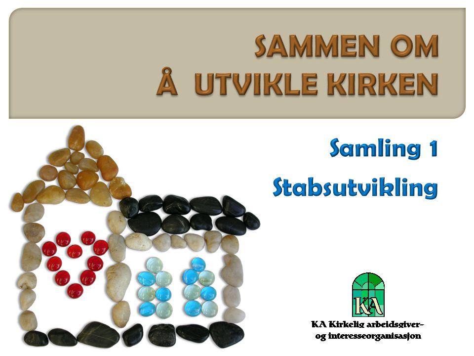 SAMMEN OM Å UTVIKLE KIRKEN Samling 1 Stabsutvikling