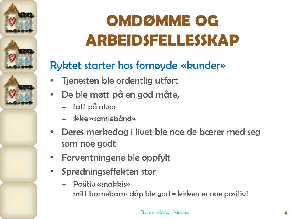 OMDØMME OG ARBEIDSFELLESSKAP