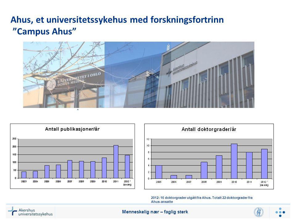 Ahus, et universitetssykehus med forskningsfortrinn Campus Ahus