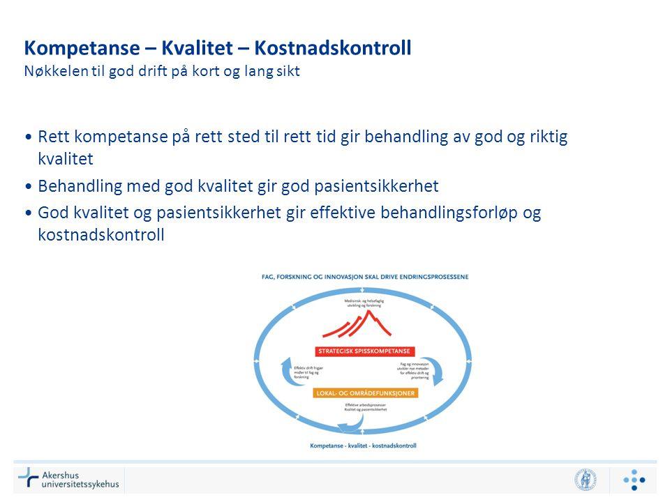 Kompetanse – Kvalitet – Kostnadskontroll Nøkkelen til god drift på kort og lang sikt