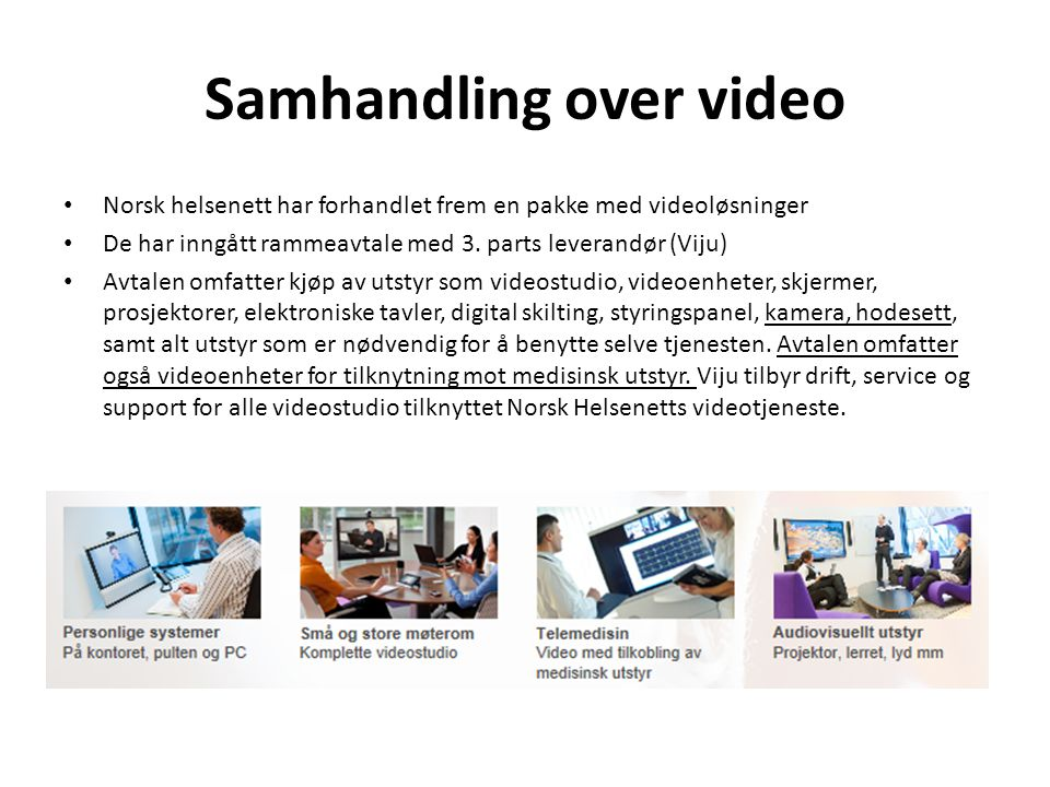 Samhandling over video