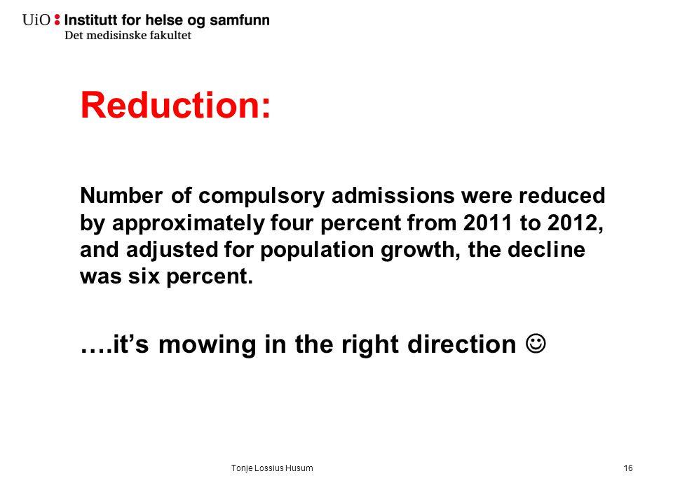 Short admissions: