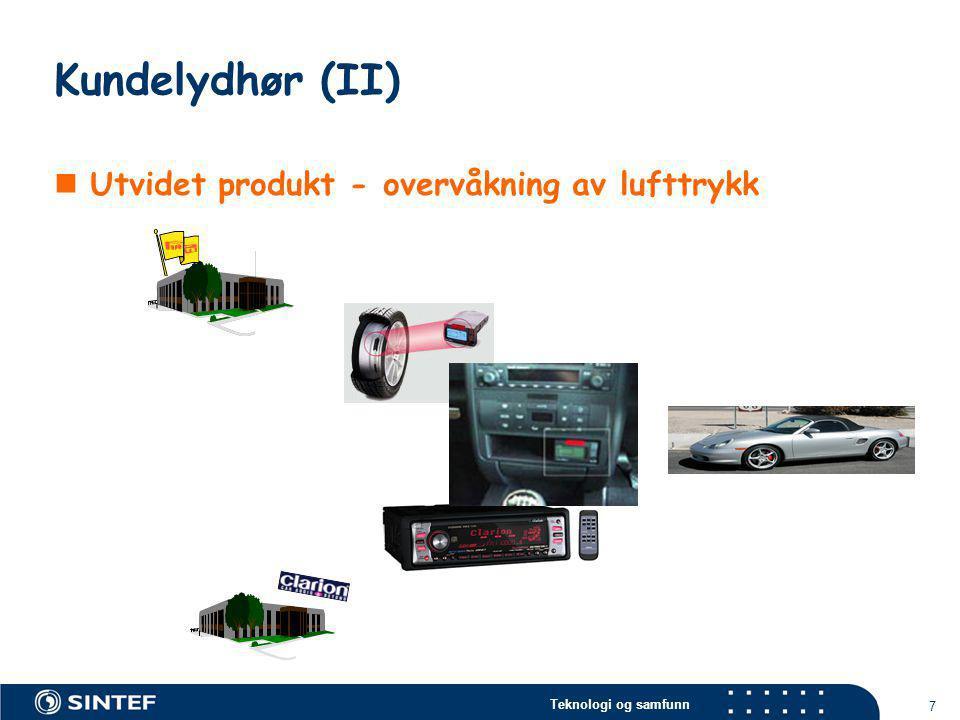 Kundelydhør (II) Utvidet produkt - overvåkning av lufttrykk