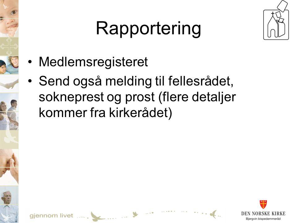 Rapportering Medlemsregisteret