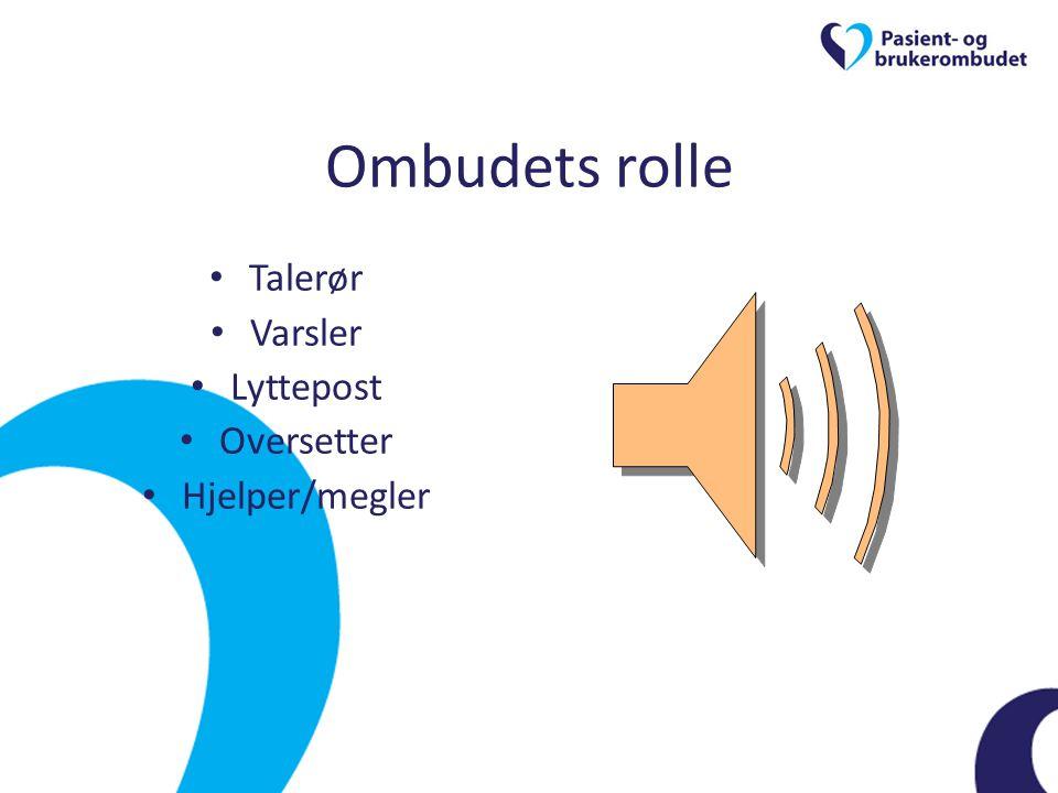 Ombudets rolle Talerør Varsler Lyttepost Oversetter Hjelper/megler