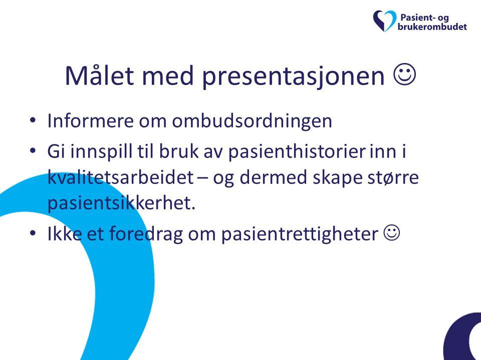 Målet med presentasjonen 