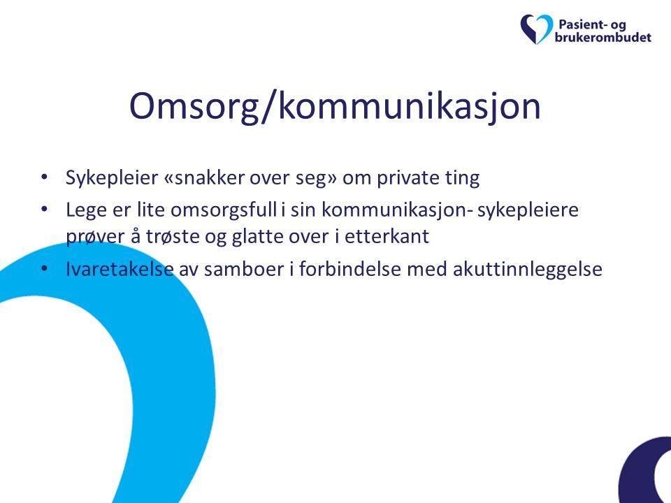 Omsorg/kommunikasjon