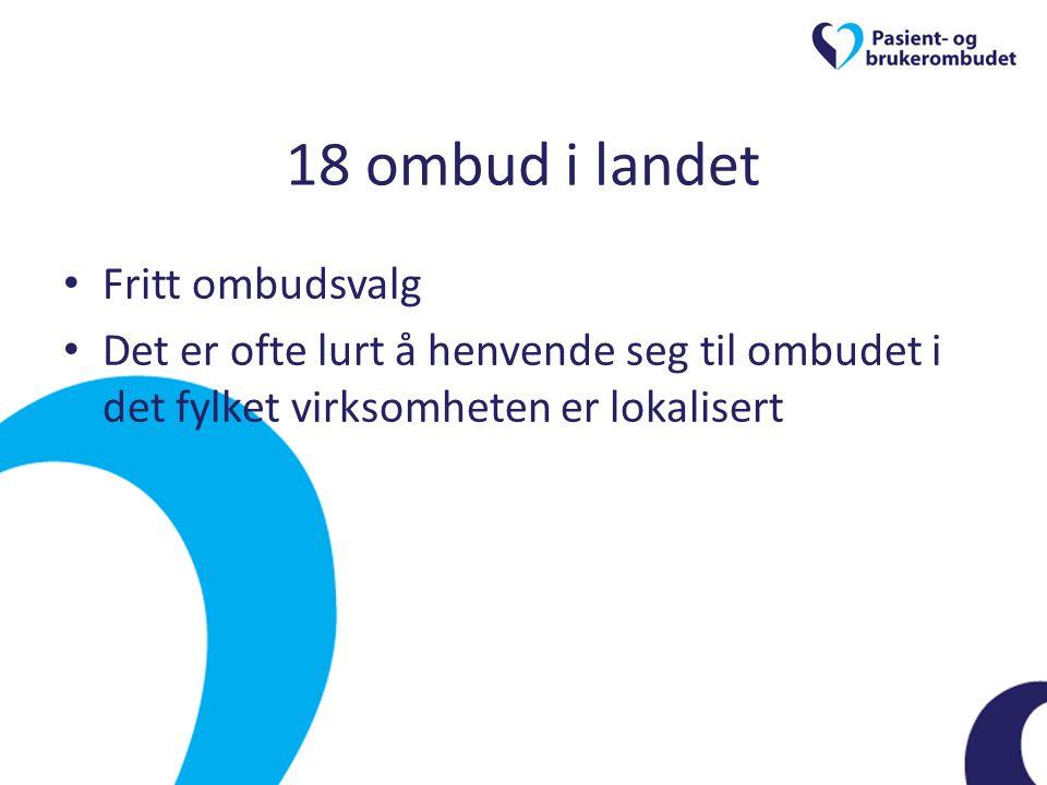 18 ombud i landet Fritt ombudsvalg