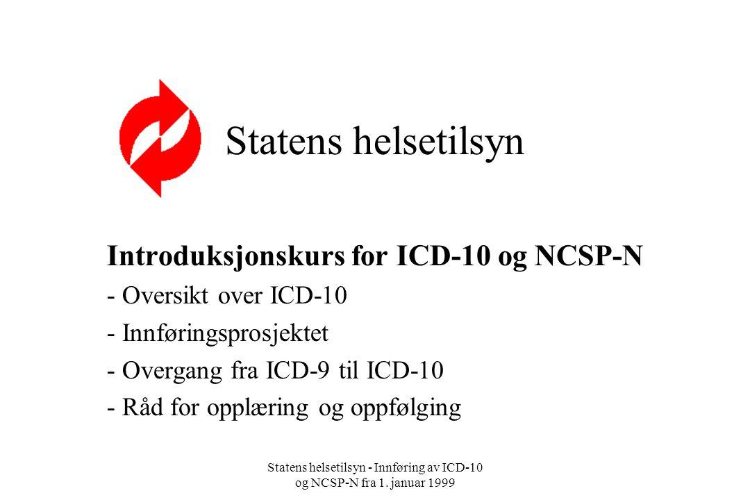 Introduksjonskurs for ICD-10 og NCSP-N