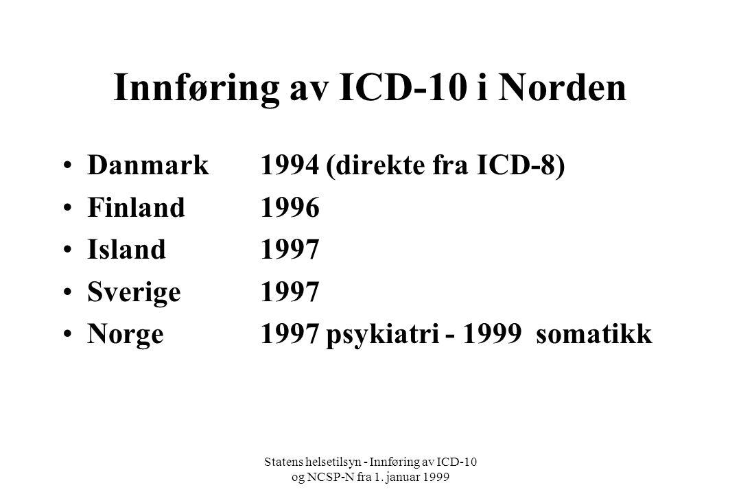Innføring av ICD-10 i Norden