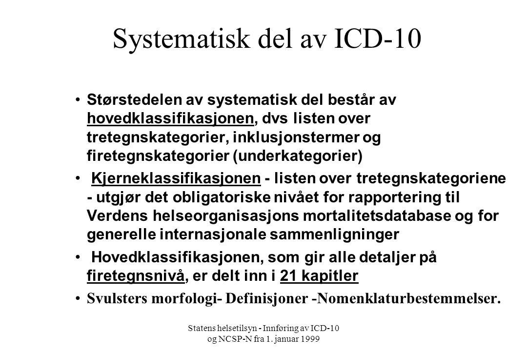 Systematisk del av ICD-10