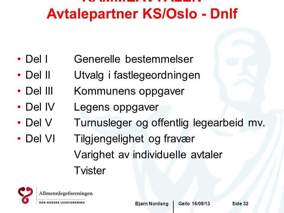 RAMMEAVTALEN Avtalepartner KS/Oslo - Dnlf
