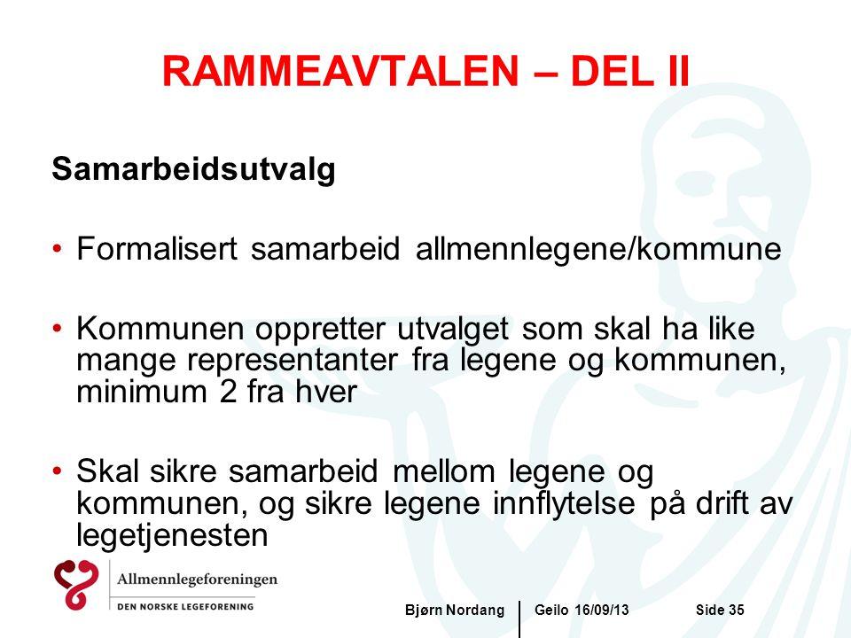 RAMMEAVTALEN – DEL II Samarbeidsutvalg