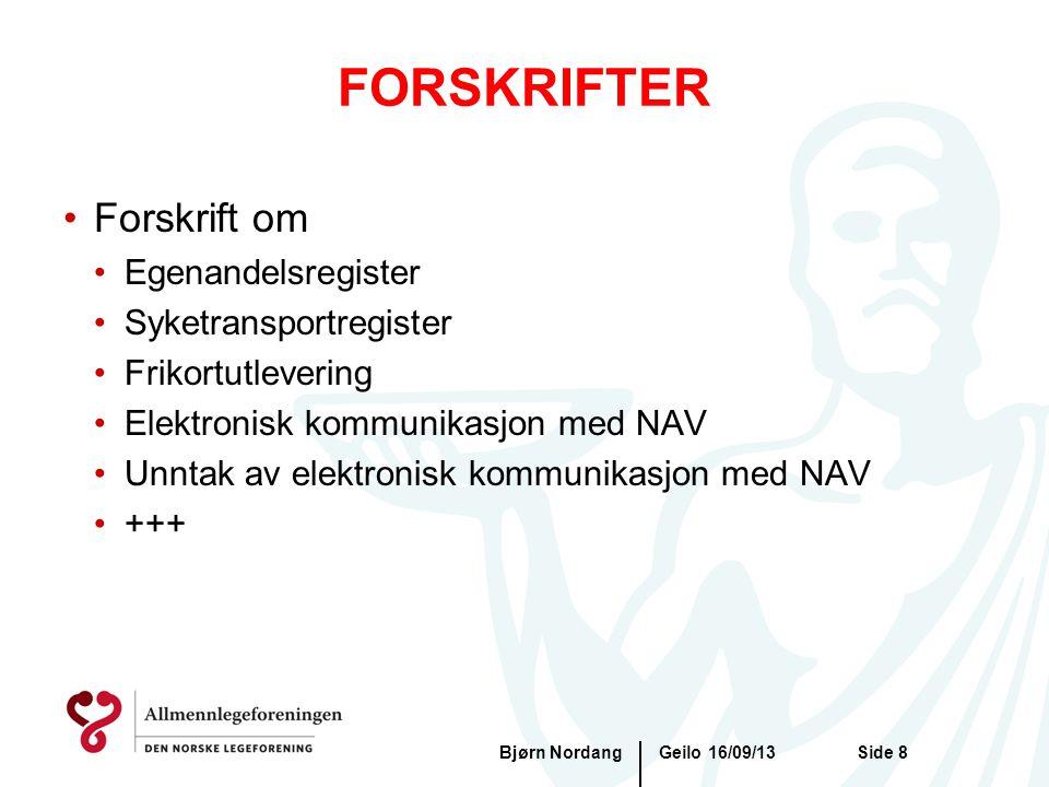 FORSKRIFTER Forskrift om Egenandelsregister Syketransportregister