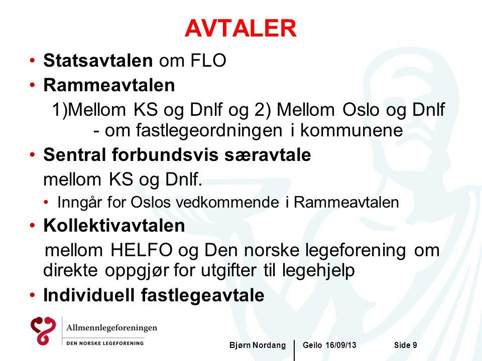 AVTALER Statsavtalen om FLO Rammeavtalen