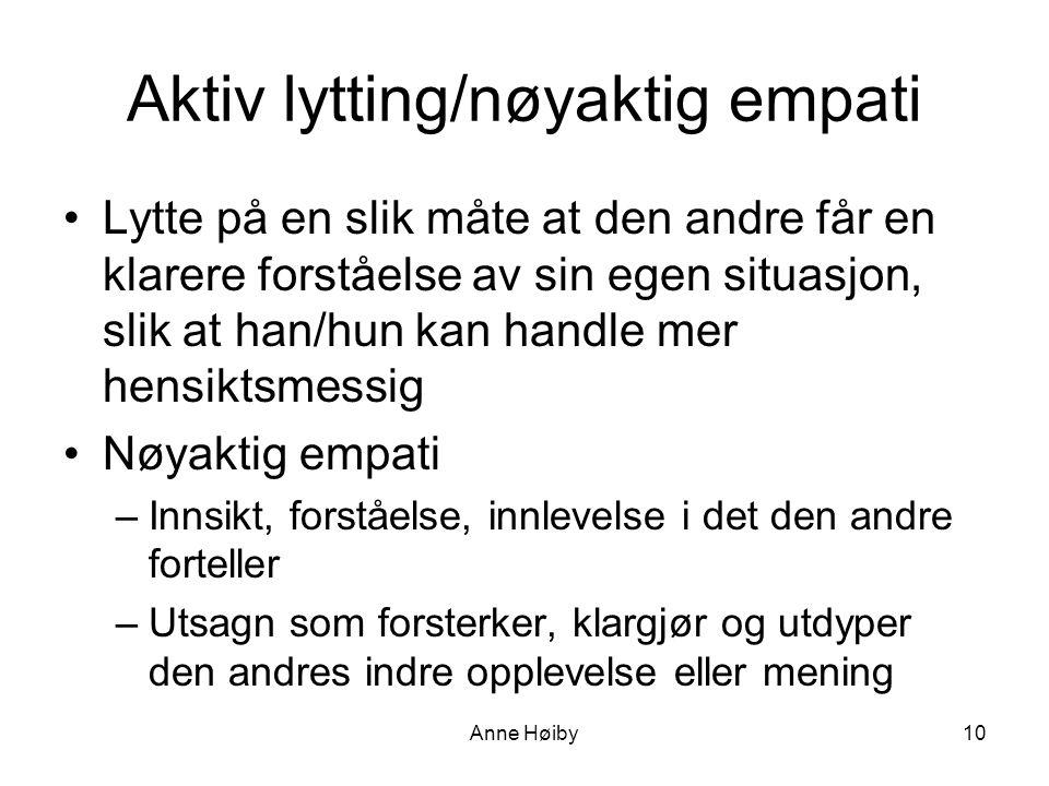 Aktiv lytting/nøyaktig empati