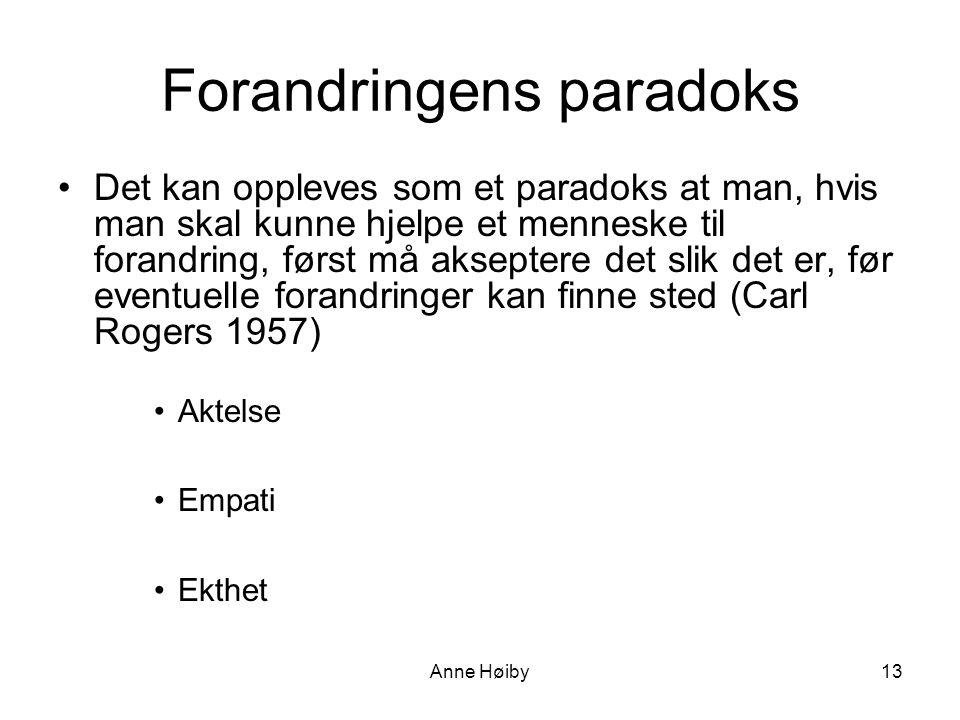Forandringens paradoks