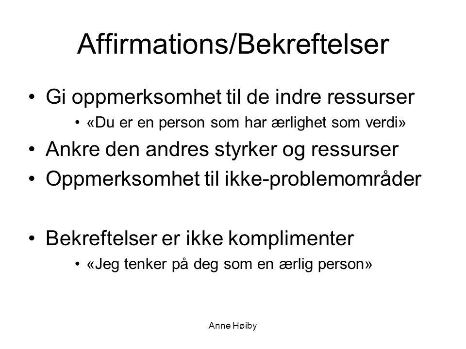 Affirmations/Bekreftelser