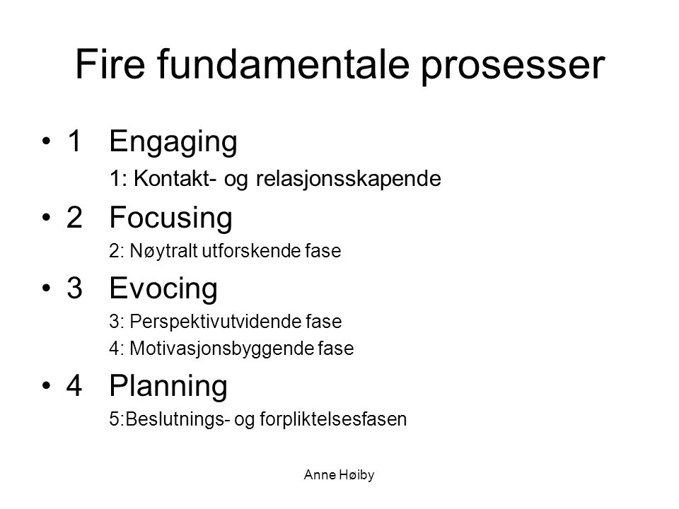 Fire fundamentale prosesser