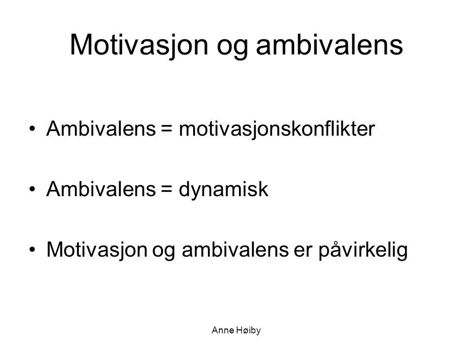 Motivasjon og ambivalens