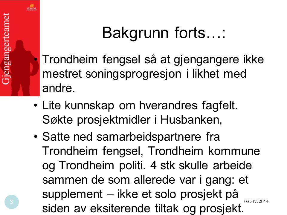 Bakgrunn forts…: Trondheim fengsel så at gjengangere ikke mestret soningsprogresjon i likhet med andre.